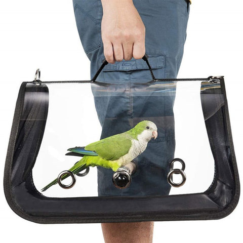 Image of Bird Travel Carrier Outerdoor Bird Transport Cage Breathable Parrot Go Out Backpack