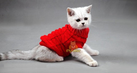 Cat Sweater Coat Spagetti Warm Autumn Winter Pet Jumper