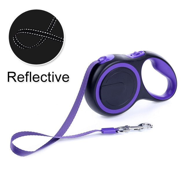 Durable Reflective Pet Dog Leashes For Large Dogs Automatic Extending Traction Rope Retractable