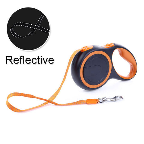 Image of Durable Reflective Pet Dog Leashes For Large Dogs Automatic Extending Traction Rope Retractable