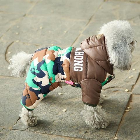 Image of Winter Warm Fur Coats Waterproof Jacket Puppy Coat For French Bulldog
