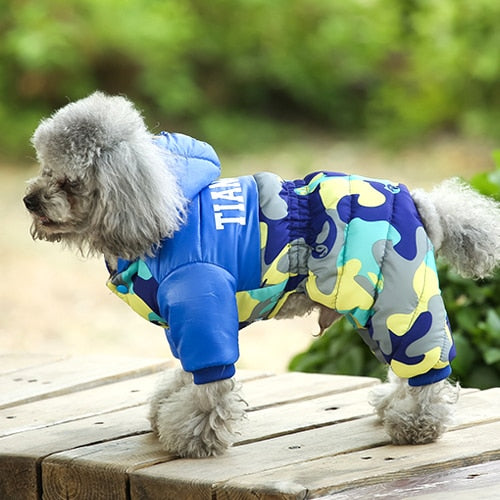 Winter Warm Fur Coats Waterproof Jacket Puppy Coat For French Bulldog