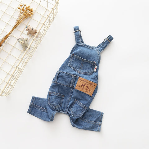 Image of Denim Dog Coat Autumn Winter Pets Dogs Clothing