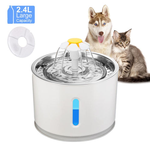 Automatic Cat Fountain Pet Drinking Water Dispenser Electric LED Dog Drinking Fountain