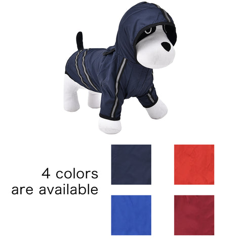 Image of Dog Raincoat Nylon Pet Dog Cloth Puppy Coat for Dogs Cat Raincoat  Dog Rain Poncho