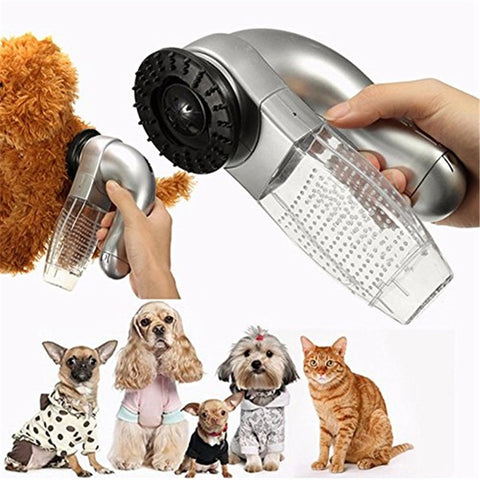 Portable Electric Pet Sucking Cat And Dog Massage Cleaning Vacuum Cleaner Pet Hair Stick