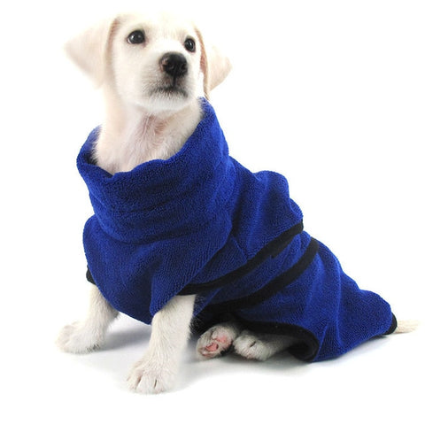 Pet Towel Dog Bathrobe Super Absorbent Pet Drying Towel Microfiber Dog Bath Towels