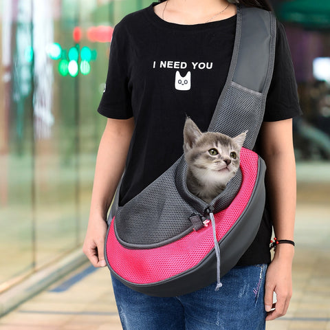 Carrier For Cat Pet Sling Backpack Bag Breathable Travel Transport Carrying Bag