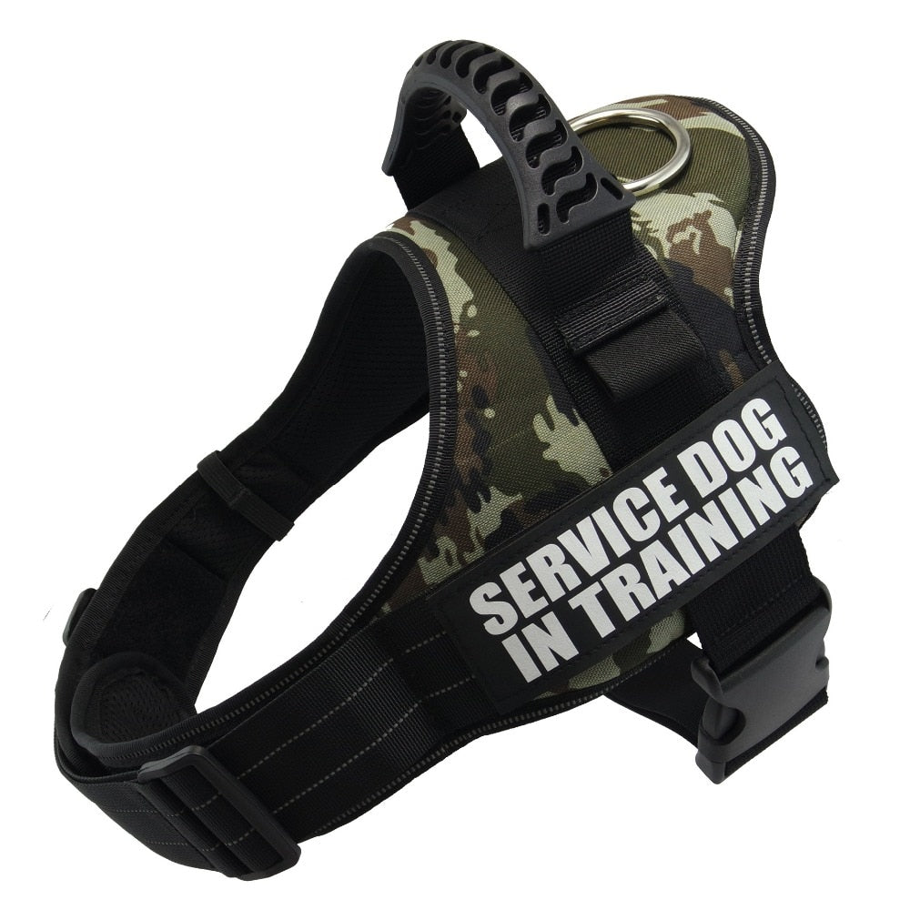 Pet Dog Harness K9 Reflective Rope Nylon Handle Adjustable Anti-collision Vest Harness