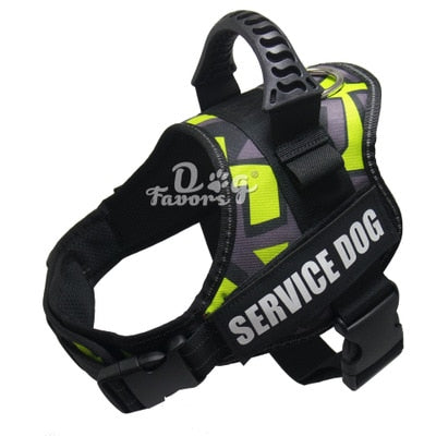 Image of Pet Dog Harness K9 Reflective Rope Nylon Handle Adjustable Anti-collision Vest Harness