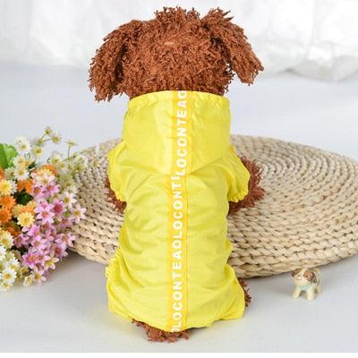 Image of Dog Jumpsuit Raincoats Puppy Dog Coats Waterproof 4 Colors Size XS-XXL