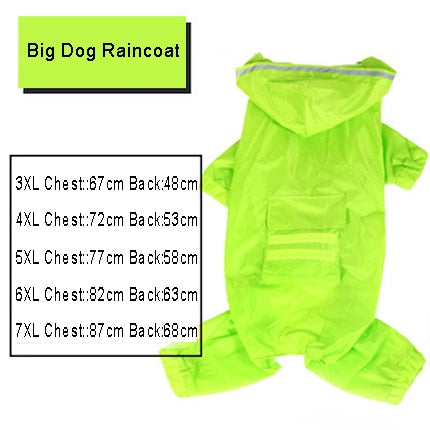Dog Raincoat Jumpsuit Rain Coat for Dogs Pet Cloak Labrador Waterproof