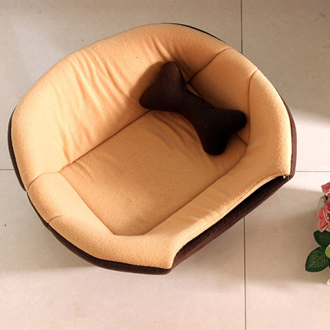 Image of Winter Cat Bed House Foldable Soft Warm Animal Puppy Cave Sleeping Mat Pad Nest Kennel
