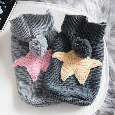 Image of Winter Star Sweater For Dog Fashion Hoodie Coat