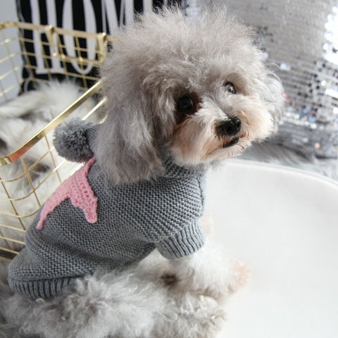 Winter Star Sweater For Dog Fashion Hoodie Coat