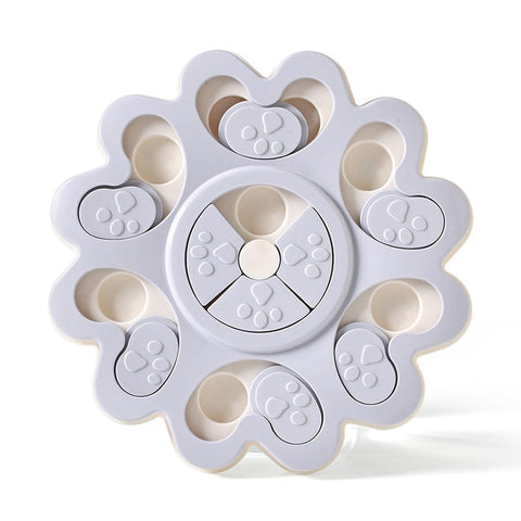 Dog Puzzle Toys Increase IQ Interactive Flower Slow Dispensing Feeding Pet Dog Training