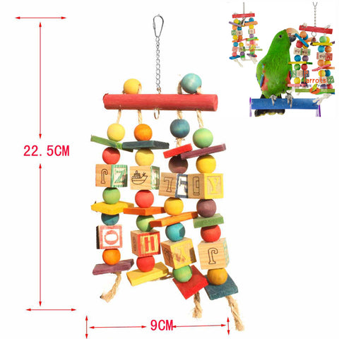 Parrot Swing Cage Toy Parakeet Cockatiel Budgie Lovebird Woodens Parrots Swings Toys