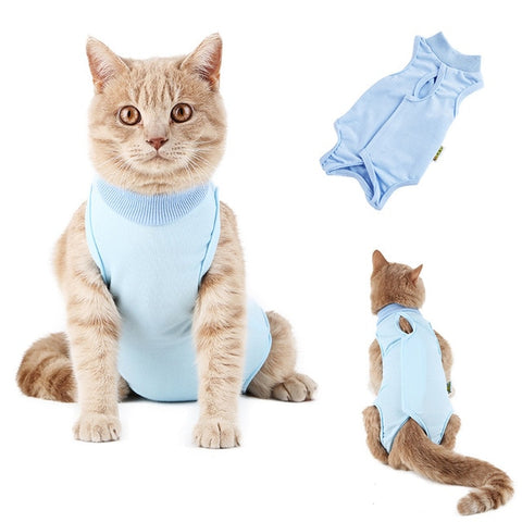 Image of Cat Sterilization Service Clothing Post Operative Pet Anti Licking Comfortable Recovery Suit