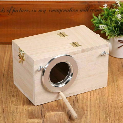 Wood Bird House Nest Birds Breeding Box Bird Parrot Breeding Decorative Cages
