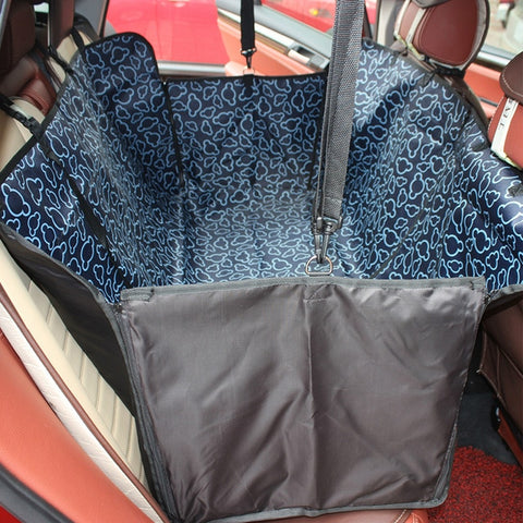 Image of Pet carriers Oxford Fabric Paw pattern Car Pet Seat Cover Dog Car Back Seat Carrier