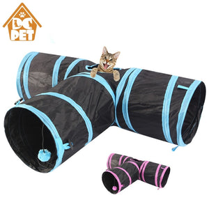 Pet cat Tunnel 3 WAY Y Shape Foldable Pet Puppy Animal Cat Kitten Play sound Toy