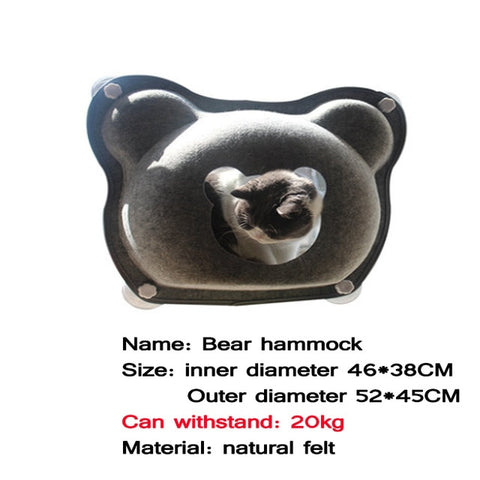 Image of Hammock Beds Bearing 20kg Cat Window Lounger Suction