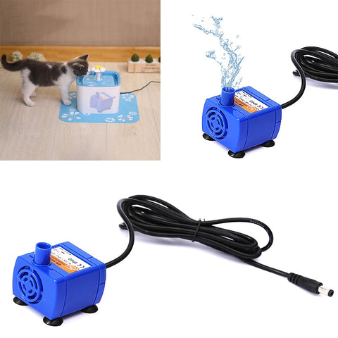 Mini pets Drinking Fountain Pump For cats  Home Replacement Water Bowl