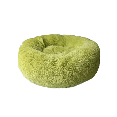 Image of Long Plush Super Soft Dog Bed Pet Kennel Round Sleeping Bag