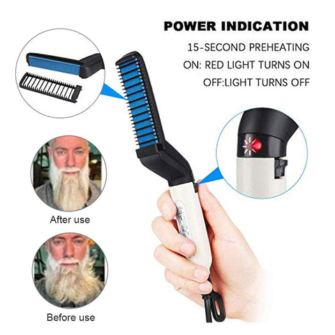 Image of Electric Beard Straightener Comb for Men Professional Quick Styling Comb