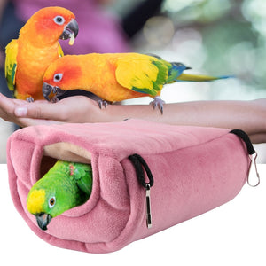 Plush Parrot Nest Hammock Warm Comfortable Parrot Cave House Hanging Birds Swing