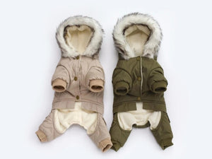 Driver Style Pet Dogs Four Legs Cotton Winter Coat