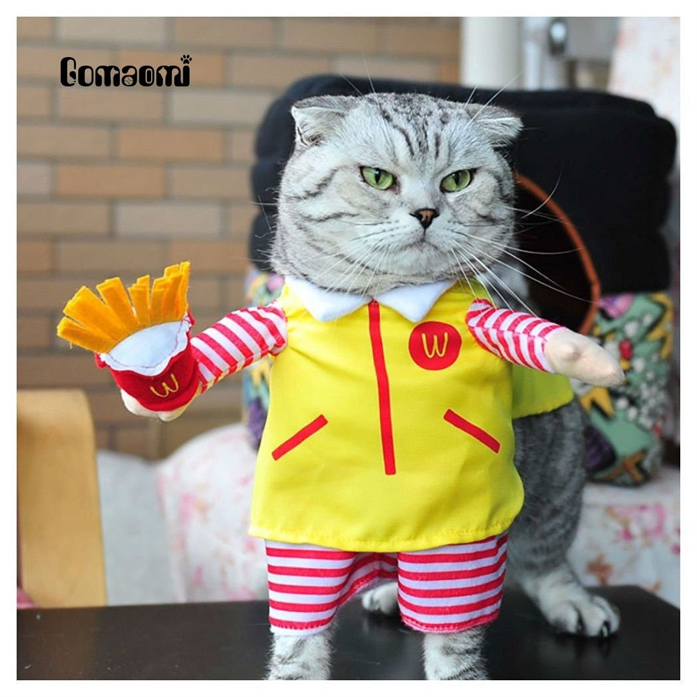 Cute Pet Cat Costume Suit Puppy Clothes Party Halloween Dress