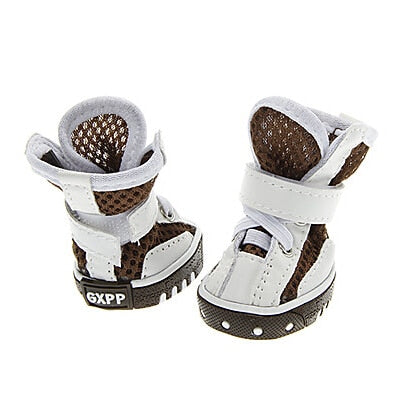 Collage polka breathable high-end  pet shoes