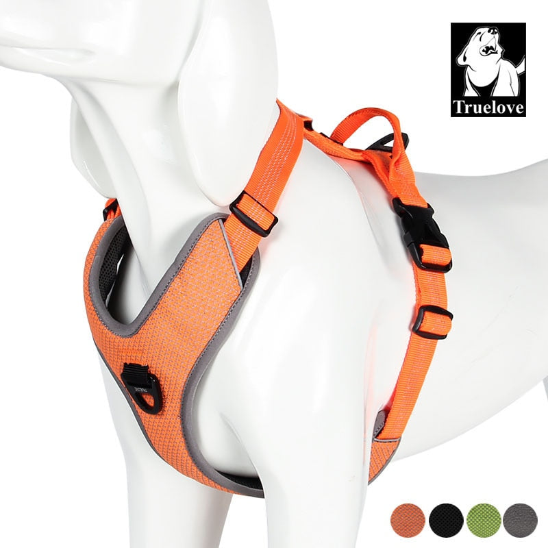 Dog Pet Harness Small Large Soft Walk Adjustable With Handle For Seat Belt