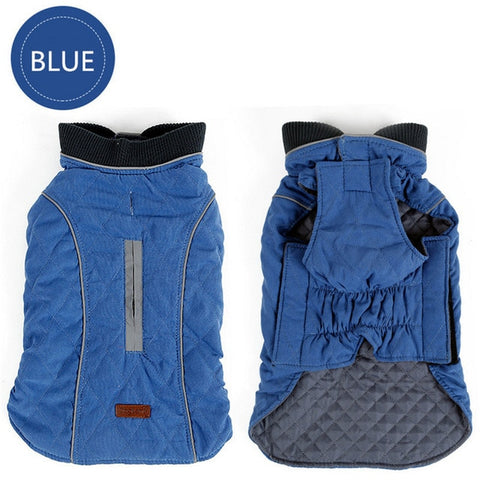 Quilted Dog Coat Water Repellent Winter Dog Pet Jacket Vest