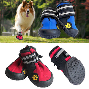 Pet Outdoor Rain Boots Non Slip Puppy Running Sneakers Waterpoof Boots