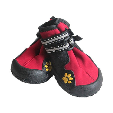 Image of Pet Outdoor Rain Boots Non Slip Puppy Running Sneakers Waterpoof Boots
