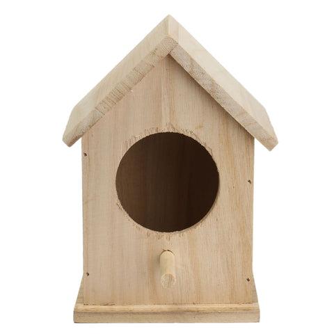 Wood Birds Nest Box New DIY Breeding Parrot Cockatiels Swallows Nest