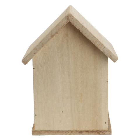 Image of Wood Birds Nest Box New DIY Breeding Parrot Cockatiels Swallows Nest