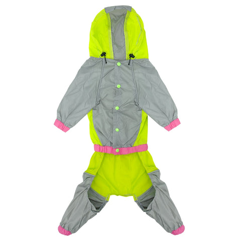 Image of Waterproof Dog Raincoat Reflective Rain Jacket Safety Rainwear