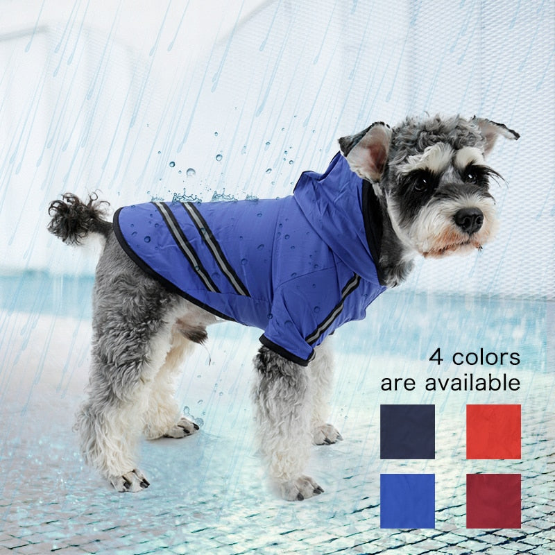 Dog Raincoat Nylon Pet Dog Cloth Puppy Coat for Dogs Cat Raincoat  Dog Rain Poncho