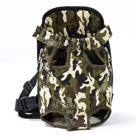 Pet Dog Carrier Backpack Mesh Camouflage Outdoor Travel Breathable Shoulder Handle Bags