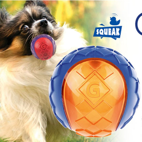 Pet Dog Puppy Squeaky Chew Toy Sound Pure Natural Non-toxic Rubber