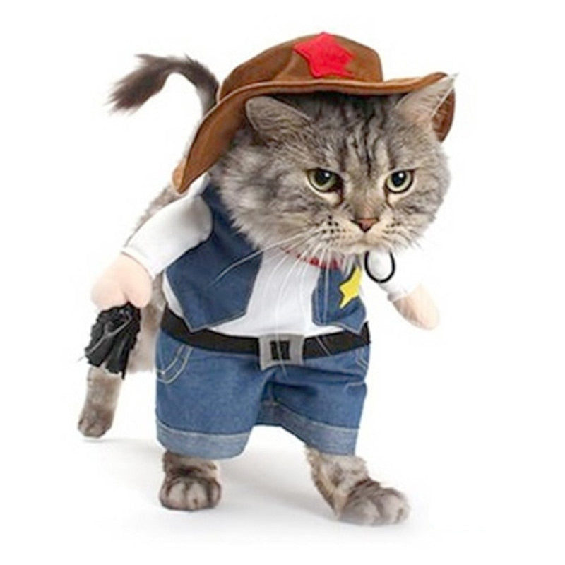 Cat Costume Cowboy Jeans Hoodie Shirts Halloween