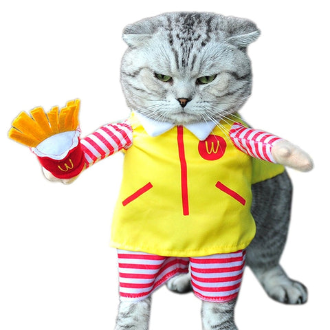 Image of Cute Pet Cat Costume Suit Puppy Clothes Party Halloween Dress