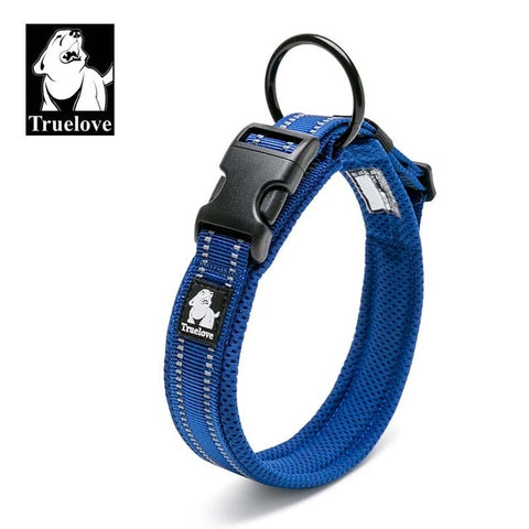 Adjustable Nylon Dog Collars Mesh Padded Reflective Collar For Dog Training