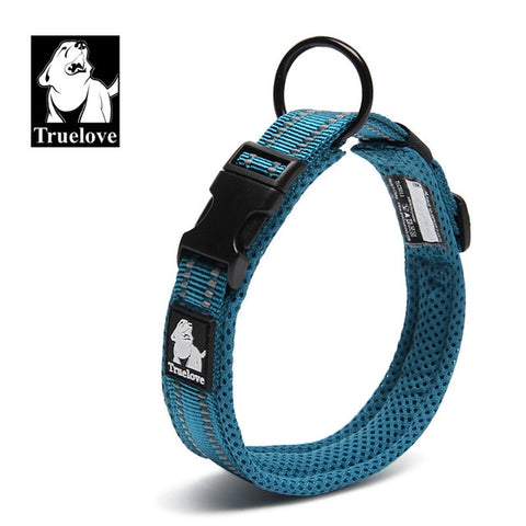 Image of Adjustable Nylon Dog Collars Mesh Padded Reflective Collar For Dog Training