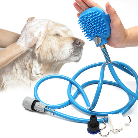 Image of Dog Scrubber Sprayer Pet bath nozzle Bathing Tool Comfortable Massager Shower Tool