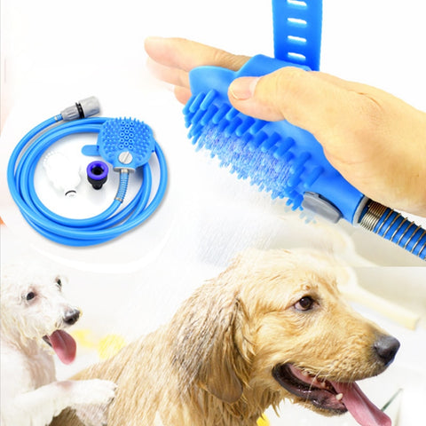 Dog Scrubber Sprayer Pet bath nozzle Bathing Tool Comfortable Massager Shower Tool