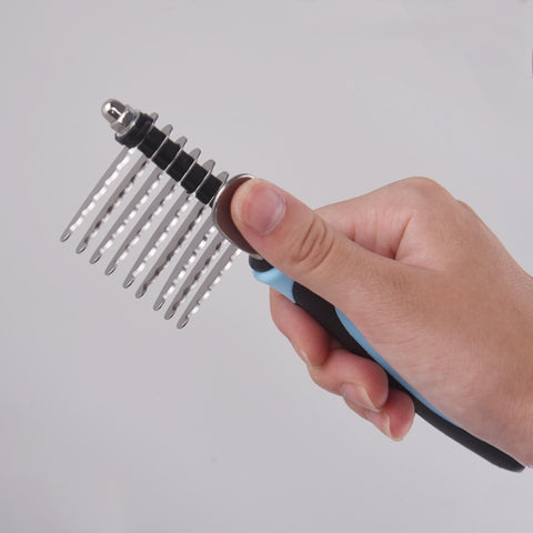 Image of Tangles and Matted Hair Cutter Rake Remover Comb Grooming Tool Detangler Brush